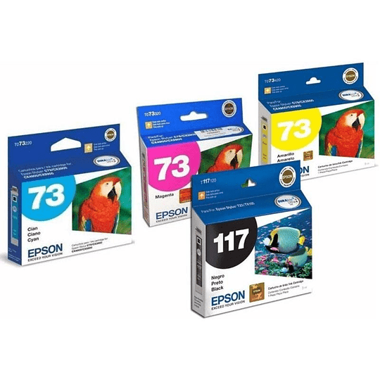 T117, 73N Pack Epson 4 colores BKCYM
