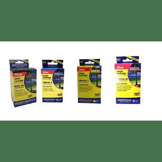 950XL y 951XL Alternativo 4 colores Negro, Cyan, Yellow y MagentaComp HP Pack pacific color