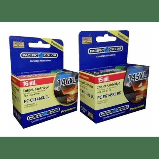 Pg145XL y CL146XL Pack alternativo compatible canon Pacific Color
