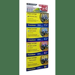 133 Pack 4 Cartuchos Alternativo compatible Epson Pacific Color