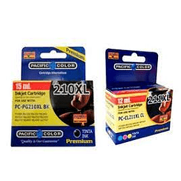 pg210 y cl211 Pack Alternativo compatible Canon Pacific Color