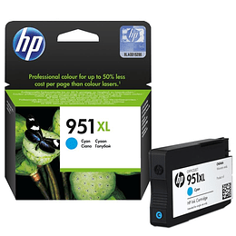 HP 951XL CYAN Cartridge Original Alto Rendimiento
