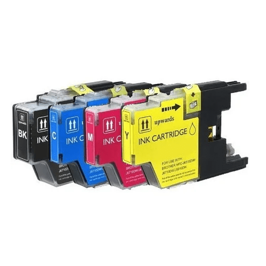 LC75XL Pack 4 Colores Cartridge Alternativo Compatible Brother Pacific Color