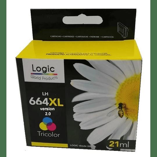 664 XL Color v2.0 Alternativo, Cartucho Tinta Logic