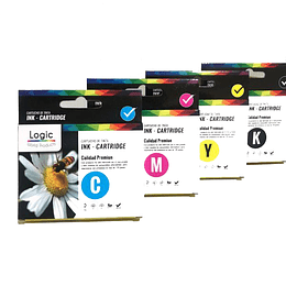 195/196/197 Pack 4 colores, Negro, Cyan, Yellow, Magenta Comp Epson LOGIC