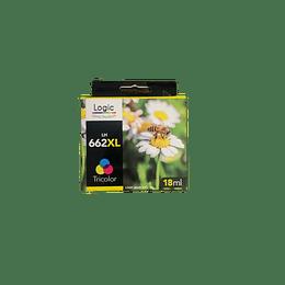 662XL Color Alternativo, Cartucho Tinta Logic
