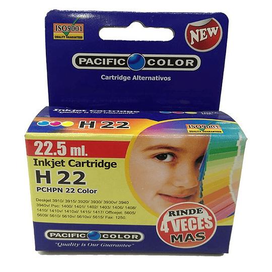 22XL Color Comp Hp Alternativa , Cartucho Tinta Pacific color