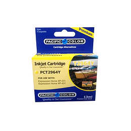 296 13ml Yellow Cartridge Alternativo Pacific Color