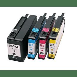 950XL y 951XL Alternativo 4 colores Negro, Cyan, Yellow y MagentaComp HP Pack