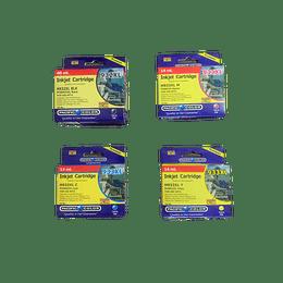 932-933 XL Compatible Hp Pack 4 colores Pacific Color