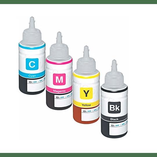 Tinta genérica para recarga pack 4 colores 70 ml c/u