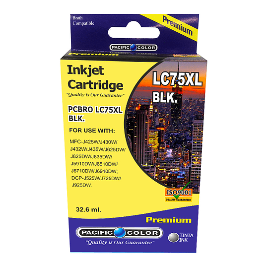 LC75BK Cartridge Alternativo Black Pacific Color Compatible Brother
