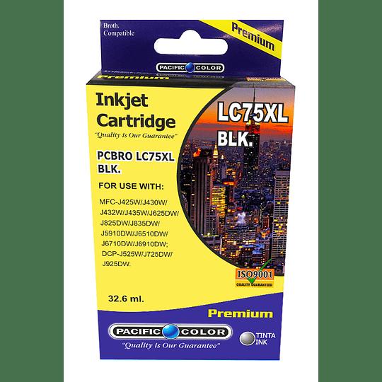 LC75BK Cartridge Alternativo Black Pacific Color Compatible Brother