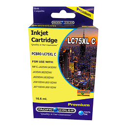 LC75C Cartridge Alternativo Cyan Pacific Color Compatible Brother