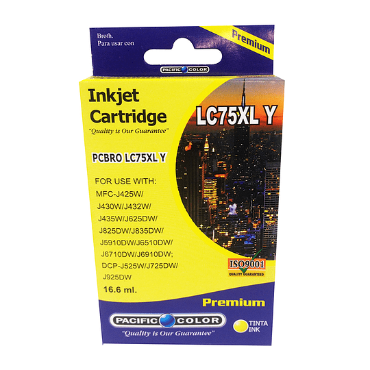 LC75Y Cartridge Alternativo Yellow Pacific Color Compatible Brother