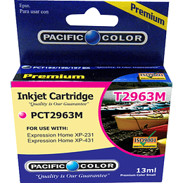 296 13ml Magenta Cartridge Alternativo Pacific Color