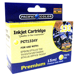 133 Yellow Cartridge Alternativo Pacific color Comp Epson