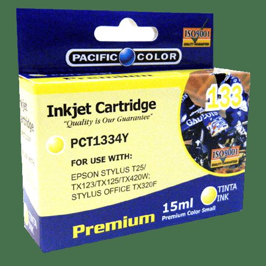 133 Yellow Cartridge Alternativo Pacific color Comp Epson