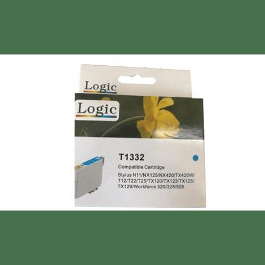 133 Cyan Cartridge Alternativa Comp Epson Logic