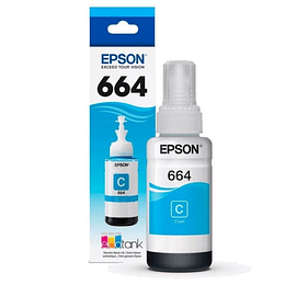 664 Tintas Original Epson Cyan