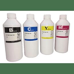 Tinta genérica para recarga pack 4 colores de litro