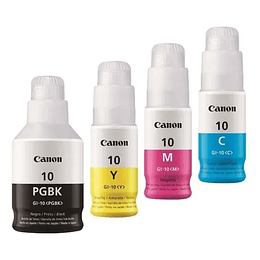 GI10 Pack de 4 colores Bk, Cyan, Yellow y magenta