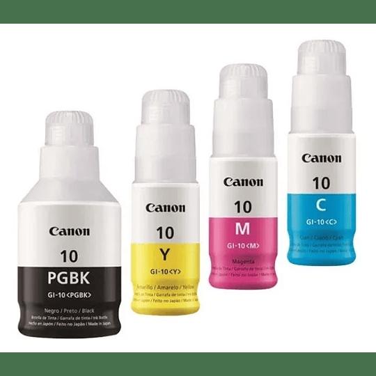 Canon 10 GI10 Pack de 4 colores Bk, Cyan, Yellow y magenta