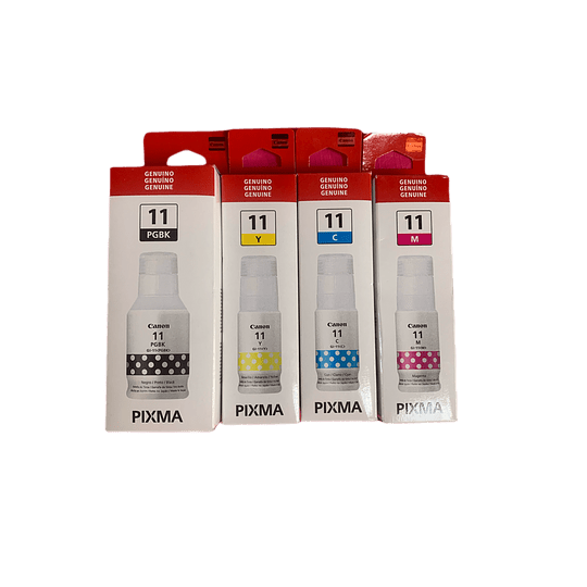 Canon 11 GI11 Pack 4 colores Bk, Cyan, Yellow, Magenta