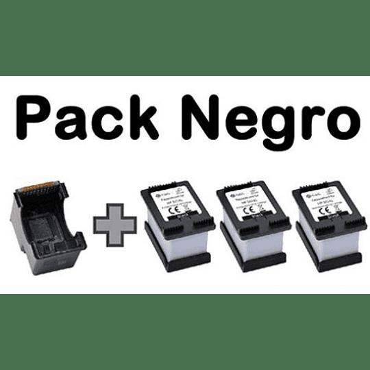 Kit cartuchos 3 en 1 compatible hp 664 Negro