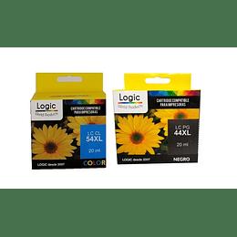 PG44XL y CL54XL Pack de cartuchos Alternativos Compatible Canon Logic