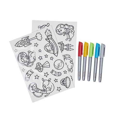 Pinta Sticker Removibles Animales del Espacio