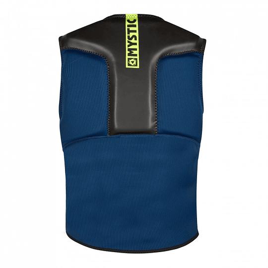 MYSTIC Impact Block Vest Fzip  Navy / Lime - Image 2