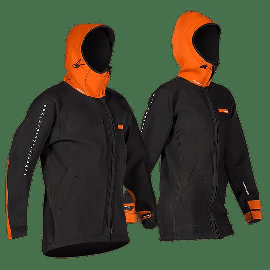 RRD Neoprene Long Jacket  2/2 Orange Black - Image 1