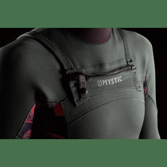 MYSTIC Dazzled Fullsuit 5/3mm Double Fzip Women Dark Leaf - Image 4