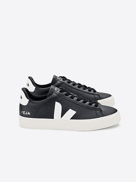 Veja - CAMPO LEATHER BLACK WHITE