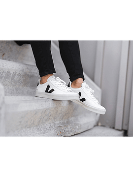 Veja - CAMPO LEATHER WHITE BLACK