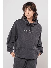 KAOTIKO - Poleron con capucha Washed Black