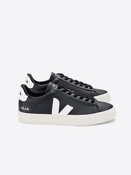 Veja - CAMPO LEATHER BLACK WHITE