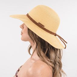 Sombrero de paja color tostado Polemic