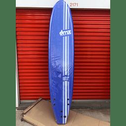 Tabla de surf Softboard DMZ 8.0 Azul (Detalle)