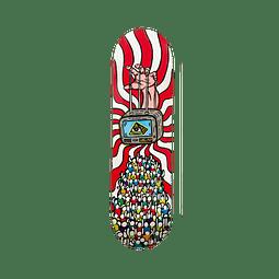"""Skateboard deck Sunrise """"Apaga la Tele"""""""