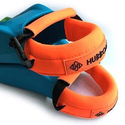 Aseguradores de aletas Hubb Deluxe Premium Orange