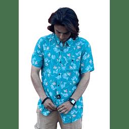 Camisa Rip Curl Verde Floreada