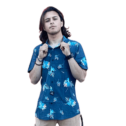 Camisa Rip Curl Azul Hojas