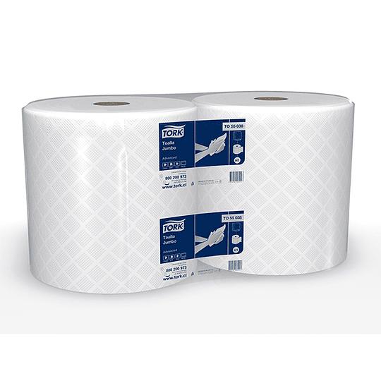 Toalla de papel Advanced 310 m hoja simple (2 unidades)