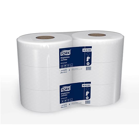 Papel higiénico 500 m hoja simple (6 rollos)