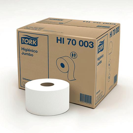 Papel higiénico 300 m hoja simple (12 rollos)