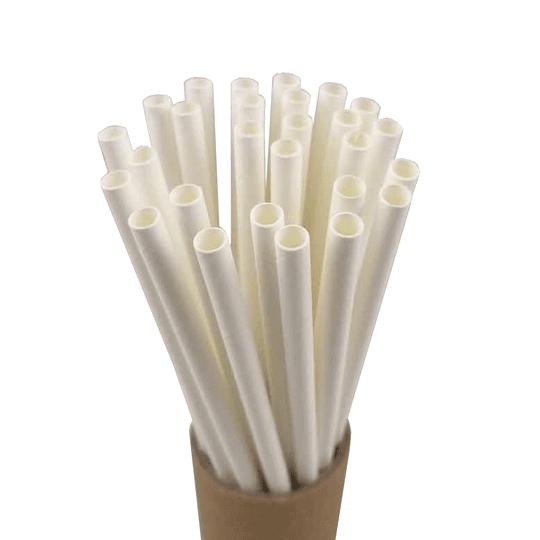 Bombillas de papel blancas 100 unidades