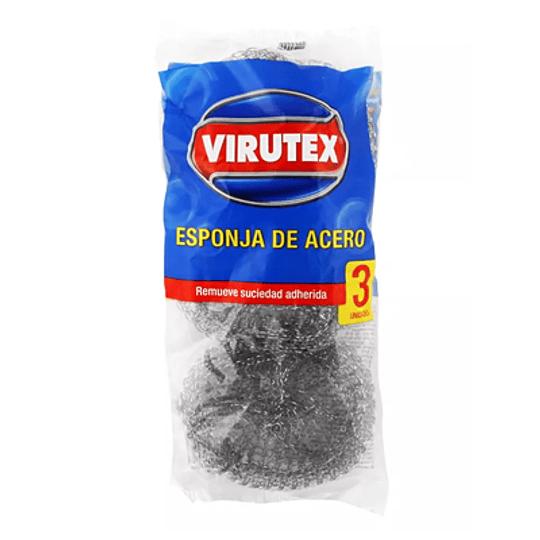 Virutilla de acero 3 unidades