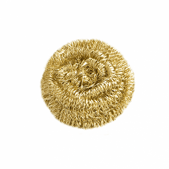 Virutilla de acero dorada
